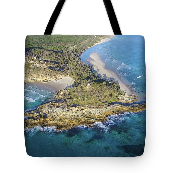 Aerial View Of North Point, Moreton Island Tote Bag