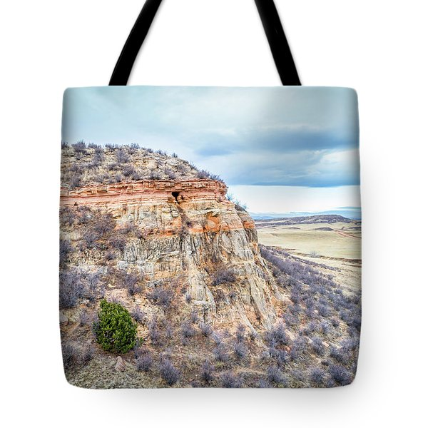 aerial view of northern Colorado foothills  Tote Bag