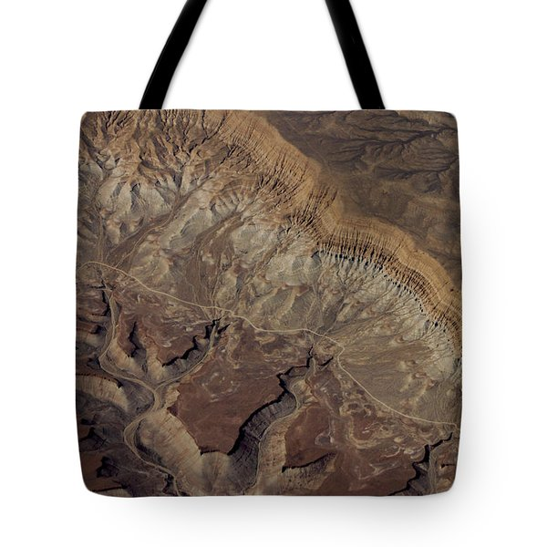 Aerial View Of Rock Formation Tote Bag by Ivete Basso Photography