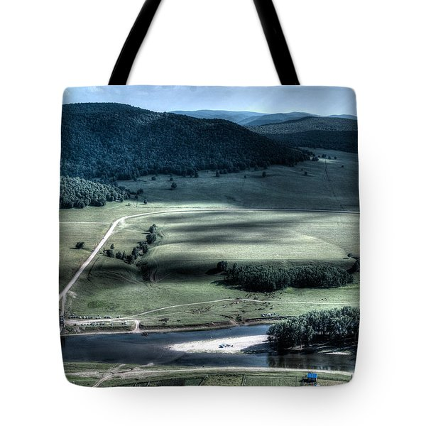 Aerial View Of Rolling Russian Hills Tote Bag