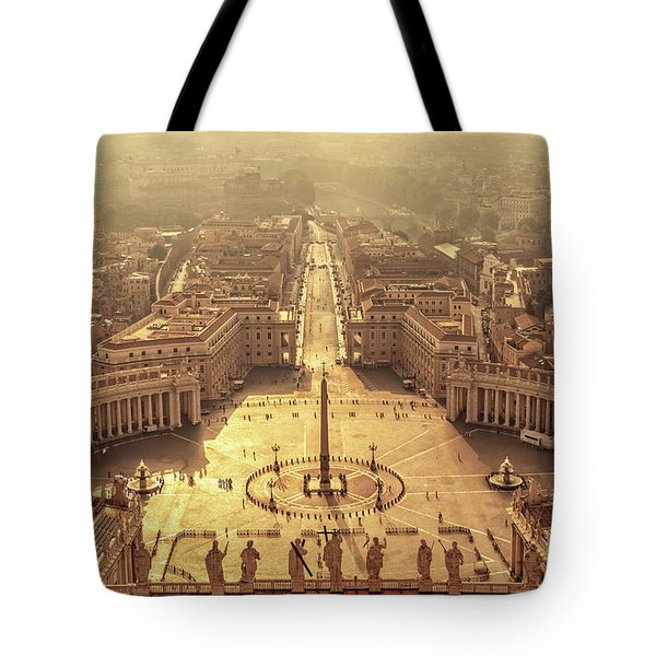 Aerial View Of St Peter's Square Tote Bag