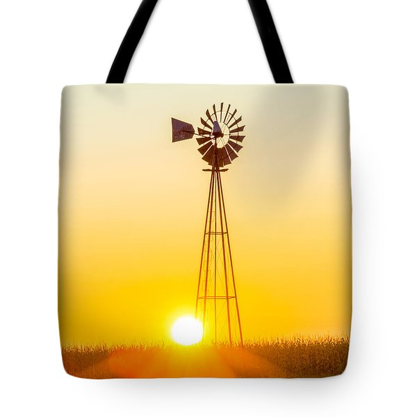 Aermotor Sunset Vertical Tote Bag by Chris Bordeleau