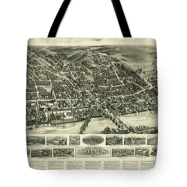Aero View Of Watertown, Connecticut  Tote Bag
