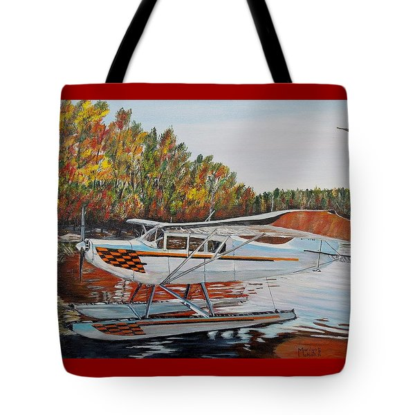 Tote Bag featuring the painting Aeronca Super Chief 0290 by Marilyn  McNish