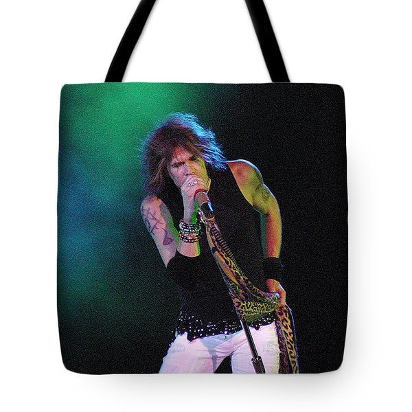 Aerosmith - Steven Tyler -dsc00138 Tote Bag by Gary Gingrich Galleries