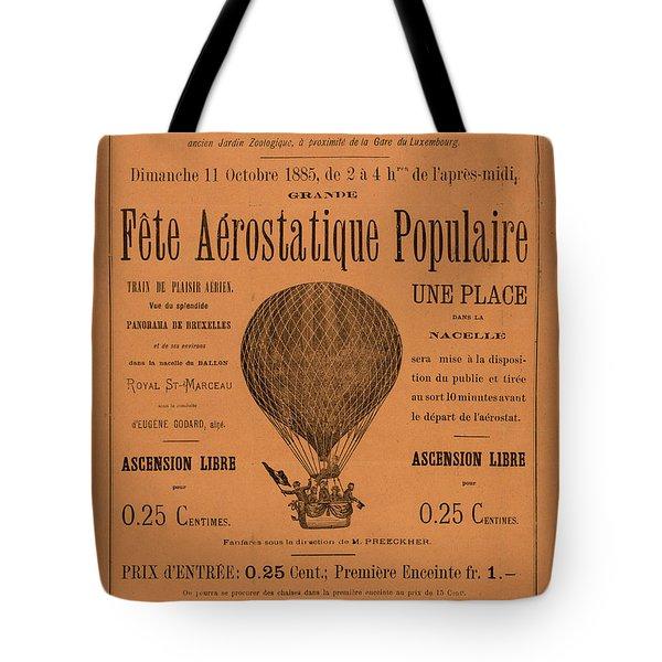 Aerostatique Populaire Tote Bag