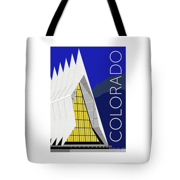 Tote Bag featuring the digital art Colorado Afa Chapel by Sam Brennan