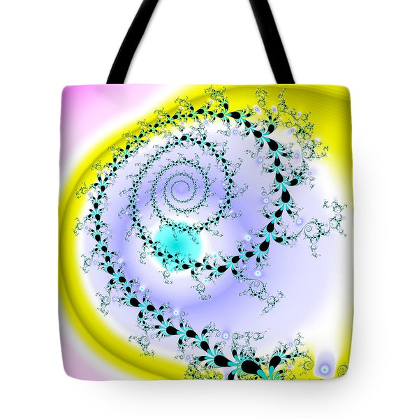 Tote Bag featuring the digital art Afabliting by Andrew Kotlinski