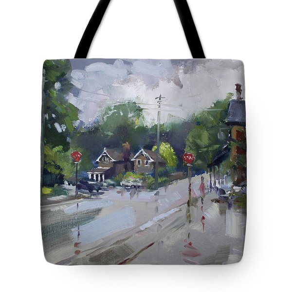 Afetr Rain At Glen Williams On Tote Bag