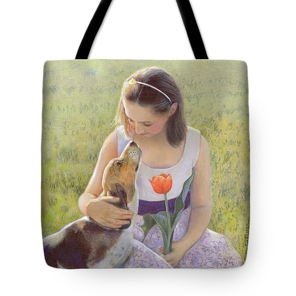Tote Bag featuring the painting Affection by Nancy Lee Moran