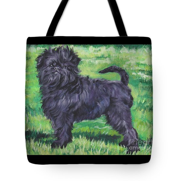 Tote Bag featuring the painting Affenpinscher by Lee Ann Shepard