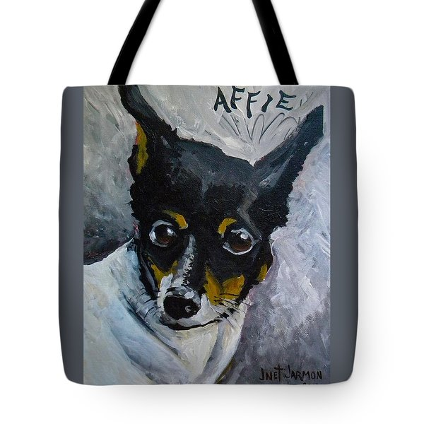 Tote Bag featuring the painting Affie by Jeanette Jarmon
