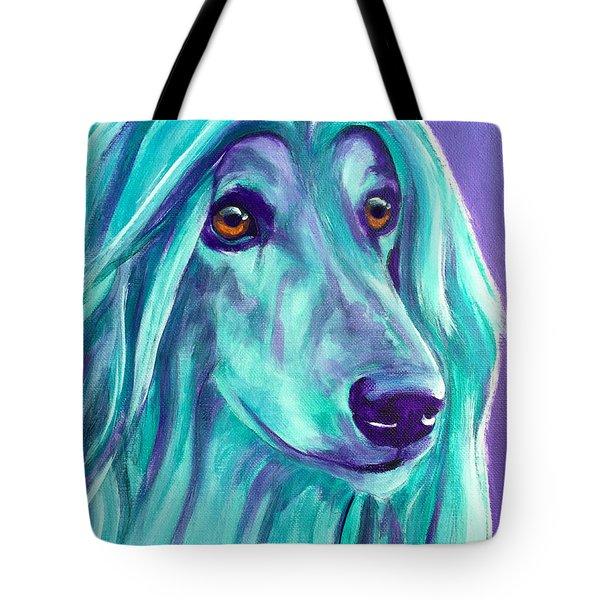 Afghan Hound - Aqua Tote Bag