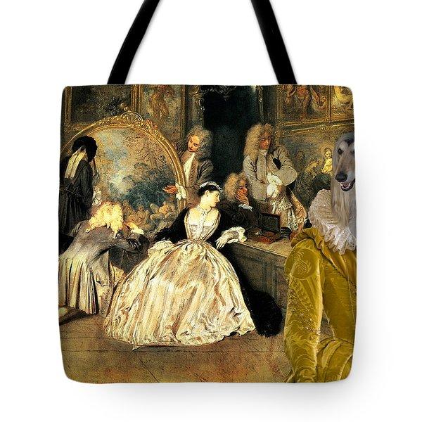 Afghan Hound-at The Artdealer's Shop Canvas Fine Art Print Tote Bag