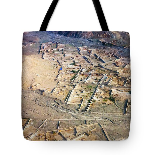 Afghan River Village Tote Bag