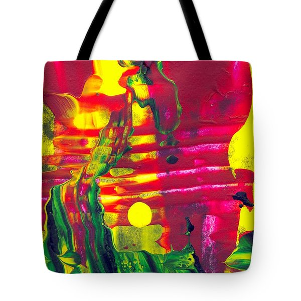 Africa - Abstract Colorful Mixed Media Painting Tote Bag