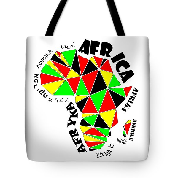 Africa Continent Tote Bag