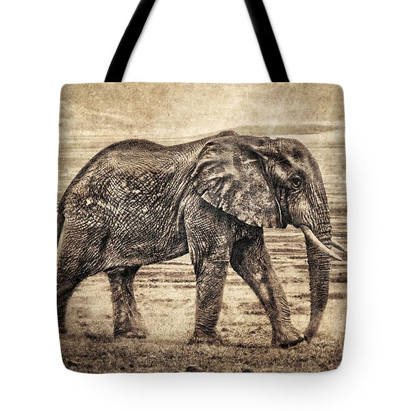 Africa Series - Elephant Tote Bag by Brett Pfister