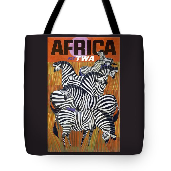 Africa Zebras Trans World Airlines Fly Twa Tote Bag