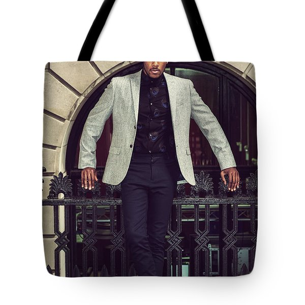 African American Businessman Working In New York Tote Bag