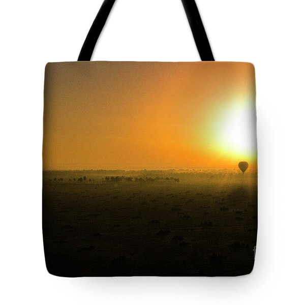 Tote Bag featuring the photograph African Balloon Sunrise by Karen Lewis