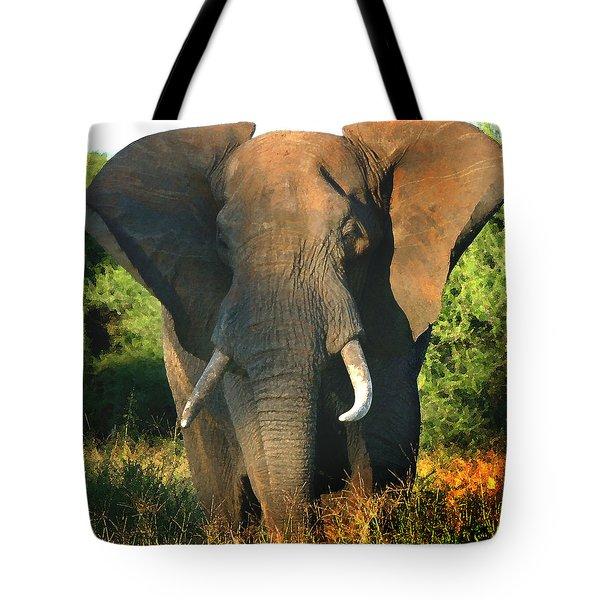 African Bull Elephant Tote Bag
