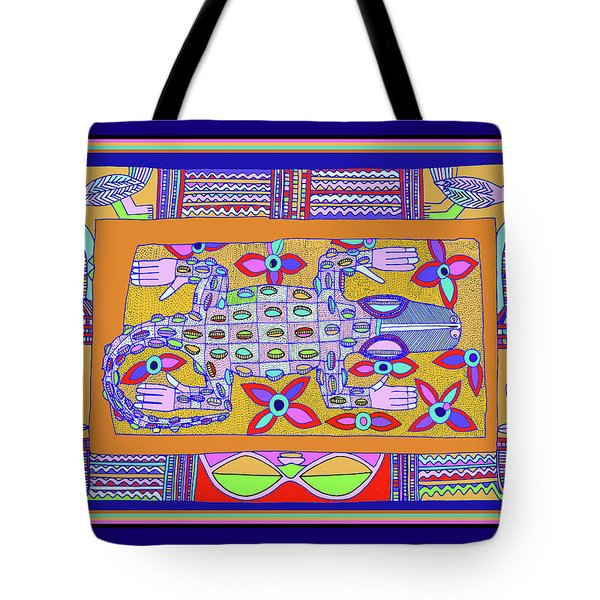 Tote Bag featuring the digital art African Croc Beach Bum by Vagabond Folk Art - Virginia Vivier
