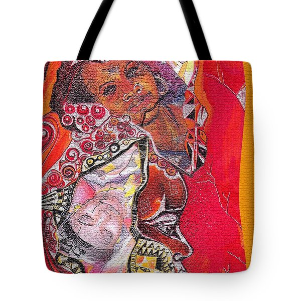 African Crown Tote Bag