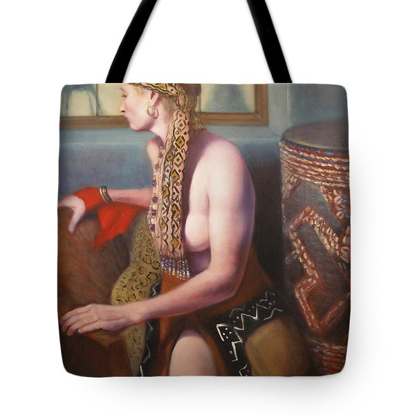 African Drum 1 Tote Bag by Donelli  DiMaria
