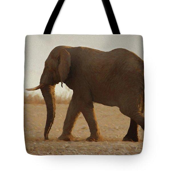 African Elephant Walk Tote Bag by Ernie Echols