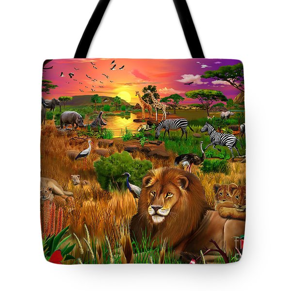 African Evening Tote Bag