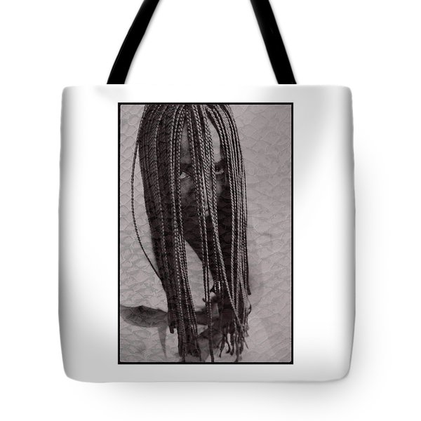African Girl With Brfaids Tote Bag