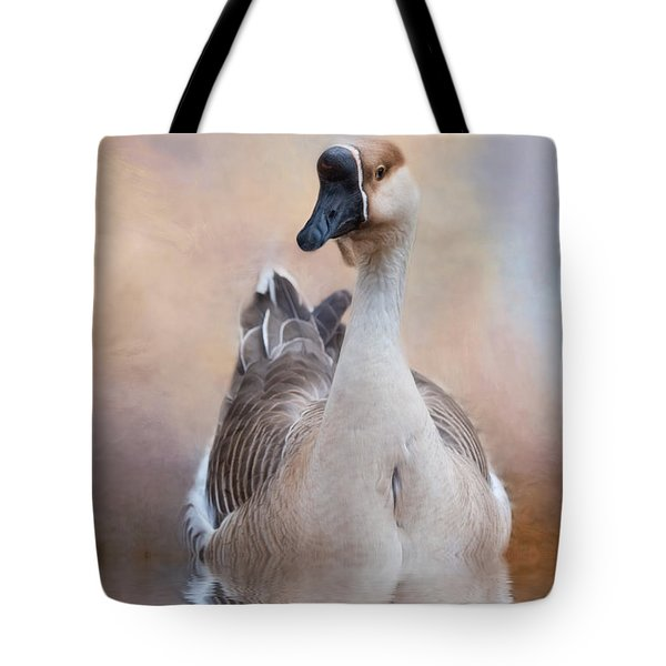 Tote Bag featuring the photograph African Goose by Robin-Lee Vieira