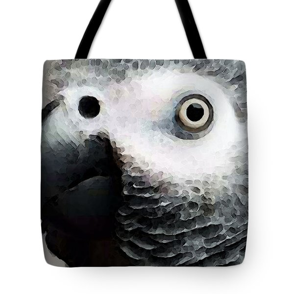 African Gray Parrot Art - Softy Tote Bag by Sharon Cummings