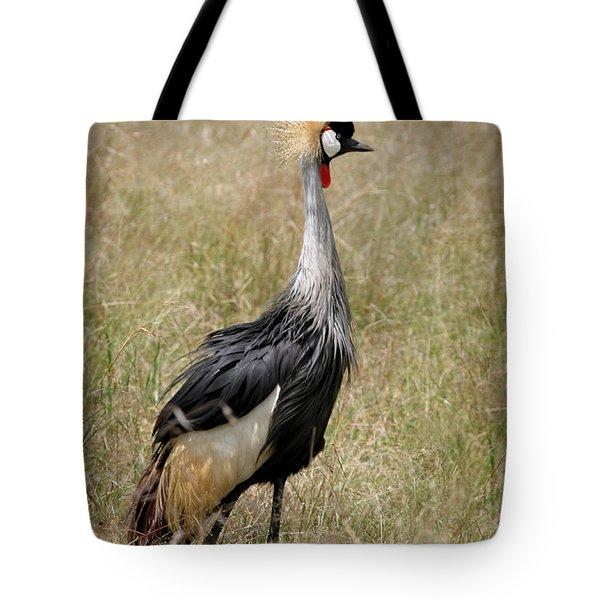 African Grey Crowned Crane Tote Bag