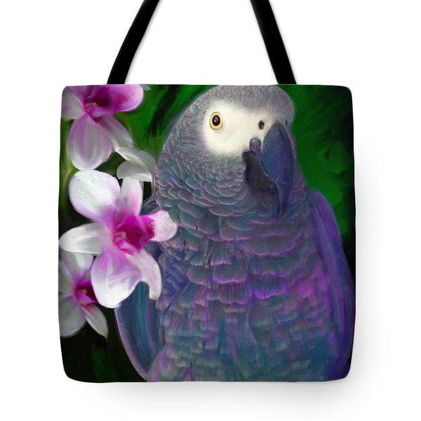African Grey  Tote Bag