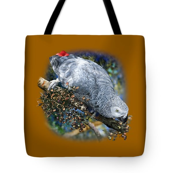 African Grey Parrot A1 Tote Bag by Owen Bell