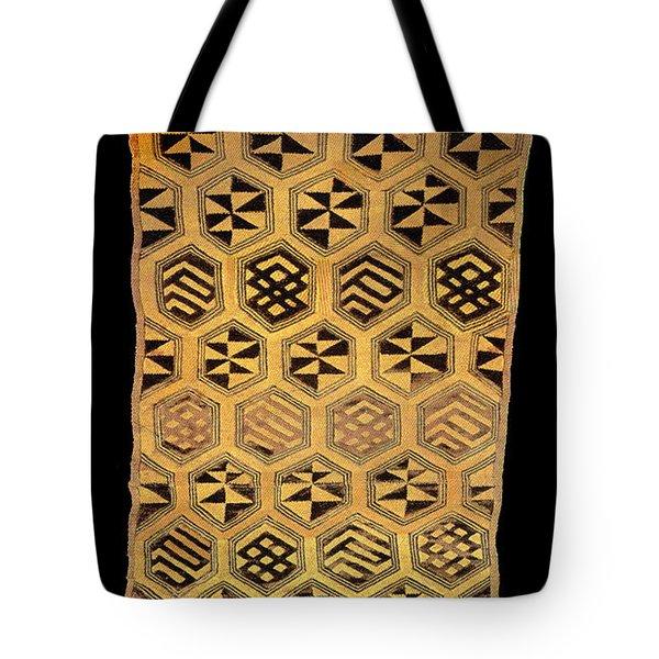 Tote Bag featuring the digital art African Kuba Cloth Print by Vagabond Folk Art - Virginia Vivier