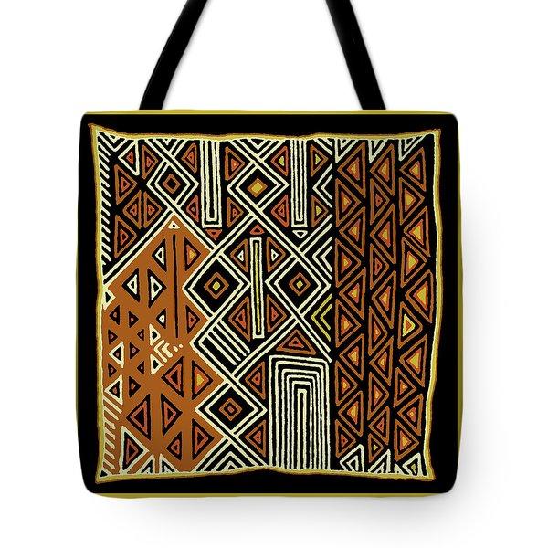 Tote Bag featuring the digital art African Kuba View From Earth by Vagabond Folk Art - Virginia Vivier