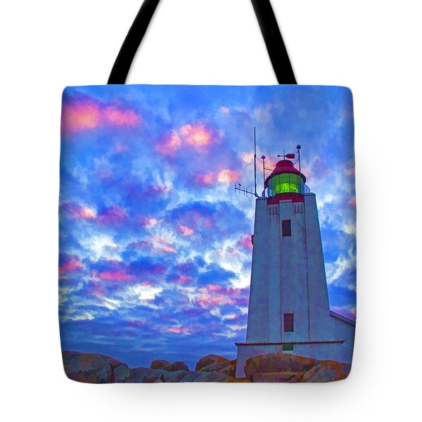 African Lighthouse Tote Bag