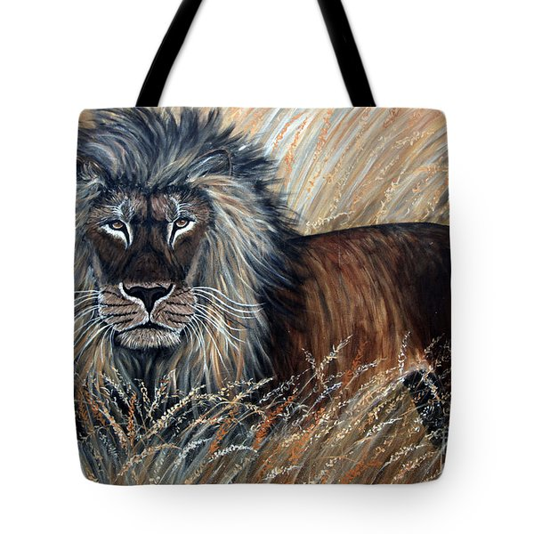 African Lion 2 Tote Bag