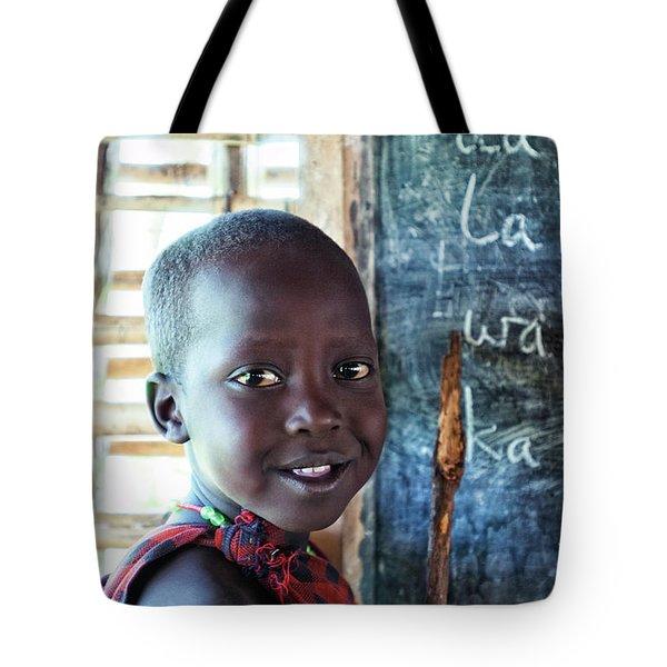 Maasai School Child Tote Bag