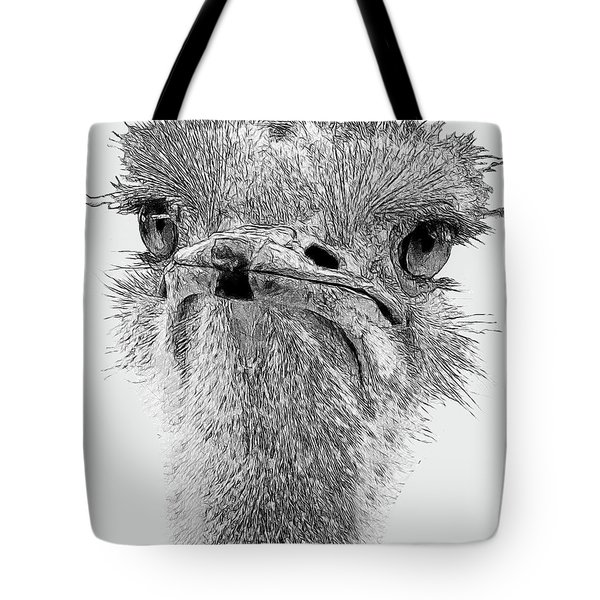 African Ostrich Sketch Tote Bag