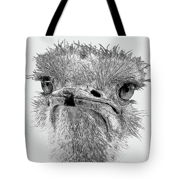 African Ostrich Sketch Tote Bag