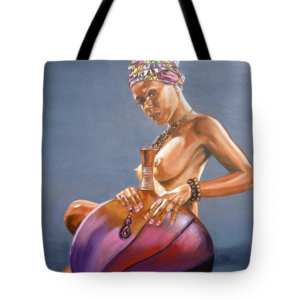 African Queen Tote Bag by Bryan Bustard