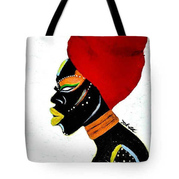 Tote Bag featuring the painting African Queen by Tarra Louis-Charles