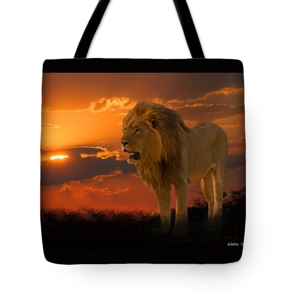 Tote Bag featuring the photograph African Sunset  by Larry Linton
