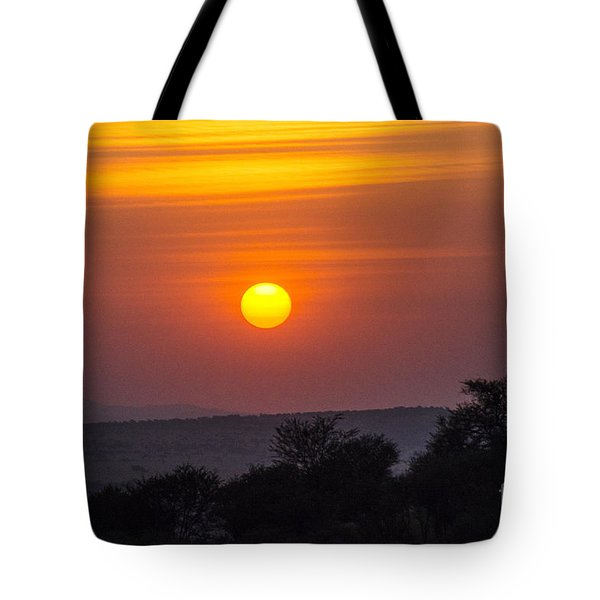 Tote Bag featuring the photograph African Sunset by Pravine Chester