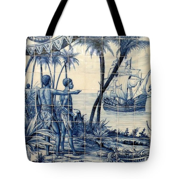 African Tile Art Tote Bag