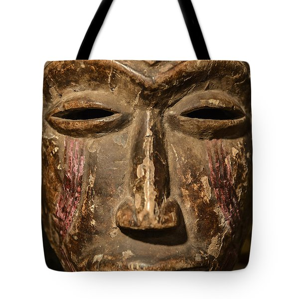African Tribal Mask. Tote Bag by John Greim